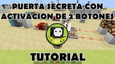 Tutorial Minecraft   Puerta secreta de pistones con cerradura de 2 botones