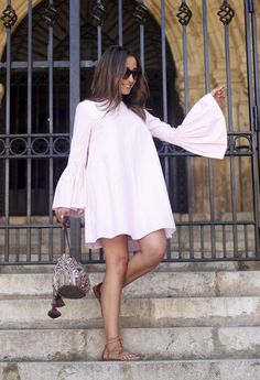Striped Dress With Bell Sleeves   BeSugarandSpice - Fashion Blog