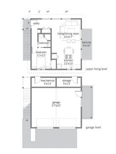 Small is beautiful when you build a Lindal. Our Birch 747 Small Prefab Home is popular among Lindal clients who want a small home with a spacious feel. Garage Apartment Floor Plans, Garage Floor Plans, House Floor Plans, Garage Loft, Garage Apartments, Garage House, Cottage Patio, Cottage Plan, Beach House Plans
