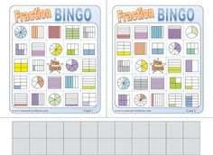 Fun Worksheets: Brain teasers, Fraction bingo, and Multiplication mazes.