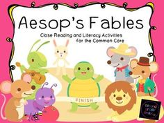 Aesop's Fables : Close Reading and Literacy Activities for the Common Core -  includes everything you need to teach Aesop's Fables for understanding, including notes and suggestions for close reading, a 27 page PowerPoint  introducing Aesop and filled with questions for close reading and responding, character trait maps and writing prompts, compare and contrast writing prompts with graphic organizers, an opinion writing prompt, and Aesop themed literacy centers $