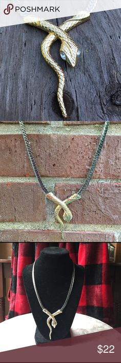 Edgy snake necklace! Only worn a couple times. I don't like snakes but this necklace can make any outfit look edgy and cool. Jewelry Necklaces