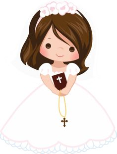 First Communion Eucharist , others, girl carrying rosary illustration PNG clipart Première Communion, First Communion Party, Baptism Party, First Holy Communion, Baptism Cookies, First Communion Decorations, First Communion Invitations, Clipart, Christening