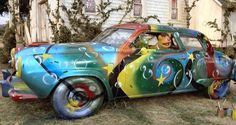 """Fozzie's uncle's Studebaker. Type of car: 1951 Studebaker Commander. Special features: Custom paint job. Appears in: """"The Muppet Movie."""""""