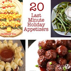20 Last Minute Holiday Appetizers howdoesshe.com