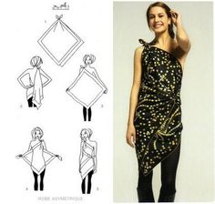 b for bel: Tips & Tricks: Turn a Scarf into a Dress
