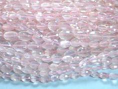 Rose quartz oval faceted beads strands (Code-22\78).. #rosequartz #ovalfaceted
