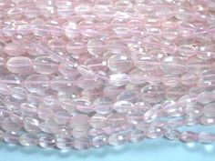 Rose quartz oval faceted beads strands (Code-22\78).. #rosequartz #ovalfaceted