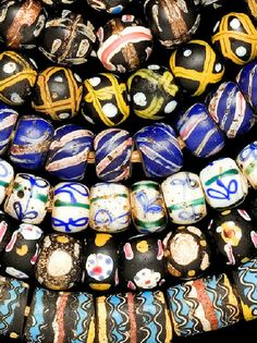"Venetian ""Fancy"" millefiori beads dating to the late 1800's to the early 1900's 