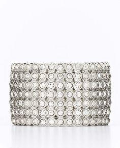 Ann Taylor Pave Crystal Stretch Bracelet