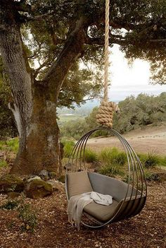 This swing looks like the perfect place to relax! Would you want one of these in your backyard?