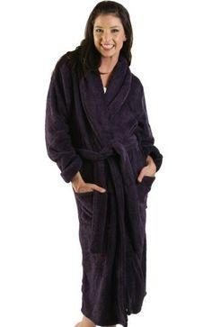 37b65a026e Alexander Del Rossa Women s Microfiber Fleece Bathrobe Robe