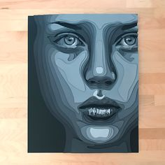 Layered Paper Portraits by Shelley Castillo Garcia - Inspiration Grid Monochromatic Art, Abstract Face Art, Paper Artwork, Art Challenge, Art Plastique, Art Sketchbook, Fractal Art, Portrait Art, Vector Art