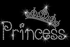 9.2 wide Princess Tiara crown iron on rhinestone by MyFairysCloset