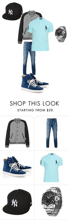 """""""Untitled #300"""" by aazraa ❤ liked on Polyvore featuring L.L.Bean, Levi's, Polo Ralph Lauren, New Era, men's fashion and menswear"""