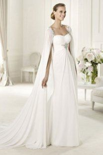 Wedding Dress With Capes Griechische Brautkleider Kleid Hochzeit Griechische Hochzeitskleider