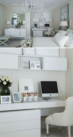 """""""Home Office / Bedroom Beautiful Bedrooms, Home N Decor, Home, Home Bedroom, Bedroom Design, House Inspiration, Home Deco, Small Bedroom, New Room"""