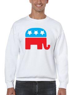 Republican party elephant elections men sweatshirt