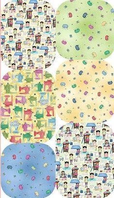 FABRIC FOLLIES Fabric Fat Quarter Cotton Craft Quilting SHOP HOP Fabric Shopping