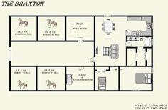 2 acre horse farm layout two acre mini farm click for Horse barn house combo plans