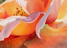 Watercolour Flower Paintings by Marney Ward | Cuded #watercolorarts