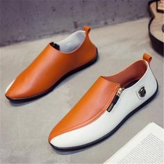 Breathable High Quality PU Leather Casual Shoes For Men's Outfit Accessories From Touchy Style. Leather Shoes Brand, Casual Leather Shoes, Leather Dress Shoes, Casual Shoes, Pu Leather, Jordan Shoes For Men, Best Shoes For Men, Mens Vans Shoes, Mens Shoes Boots