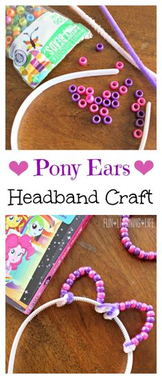 This would be fun to have at a My Little Pony Birthday Party! Pony Ears Headband Craft (Sponsored)