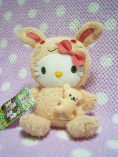 "HELLO KITTY Sanrio JAPAN x SEGA Animal Plush Doll Toy w/ Tiny Bear 2004 Rabbit : *Condition* Unused, Released in 2004, Sanrio Japan licensed! *Size* 7.5"" (19cm) in sit 29.99-38.99 (5.90/6.90/8.90)"