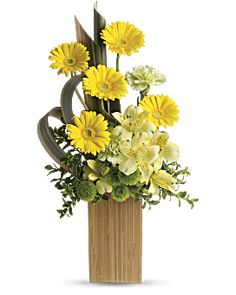 Order Sunbeams and Smiles flower arrangement from Pondview Florist, your local Winchester, MA florist. Send Sunbeams and Smiles floral arrangement throughout Winchester and surrounding areas. Yellow Flower Arrangements, Contemporary Flower Arrangements, Beautiful Flower Arrangements, Flower Centerpieces, Flower Decorations, Tropical Floral Arrangements, Get Well Flowers, Yellow Flowers, Beautiful Flowers