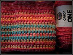 Double cluster crochet blanket pattern