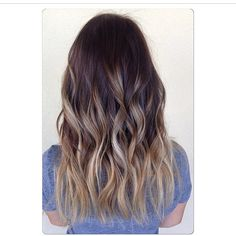 Ash ombre. Color by @hairbyemilyyy #hair #hairenvy #hairtalk #haircolor #ombre #sombre #highlights #brunette #newandnow #inspiration #maneinterest