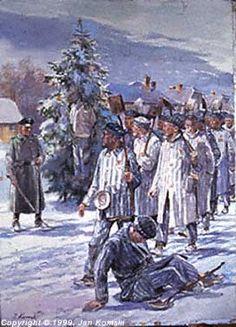 Survivor of Auschwitz  Artist Jan Komski (Polish: 1915– 2002) - An SS Christmas Tree Ornament