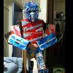 Simple costume...think of the fun of emptying all those boxes first too. Talk about a great idea!