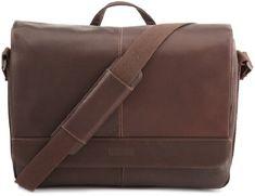 Kenneth Cole Risky Business Messenger Bag, Dark Brown, One Size