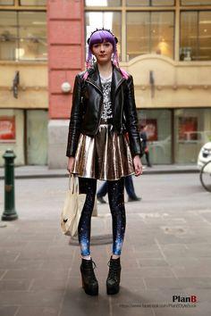 i love metallic galaxy  melbourne street fashion #melbourne #melbourne street fashion #style #lookbook #melbourne fashion