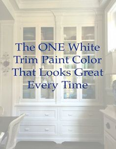 ONE White Trim Color That Works Every Time ONE white trim color that will look good with everything! BM Cotton BallsONE white trim color that will look good with everything! Trim Paint Color, White Paint Colors, Interior Paint Colors, Paint Colors For Home, House Colors, Stain Colors, Neutral Paint, Best Paint For Trim, Best White Paint