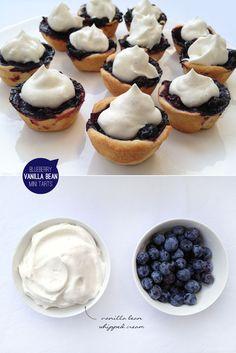 Blueberry Vanilla Bean Mini Tarts