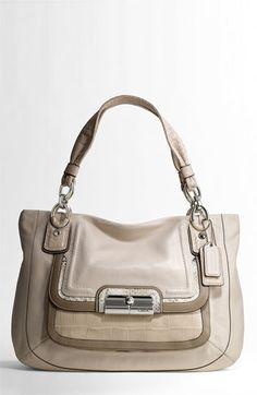 Coach Kristin Spectactor Leather Zip Top Tote