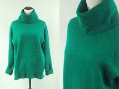 1980er Jahre 'Anne Klein' Seegrün Angora Wolle von DulcetteShop