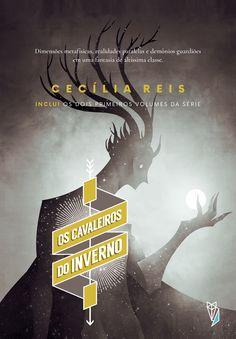 Os Cavaleiros do Inverno  Design by Marina Avila e Cecília Reis  Book cover fantasy