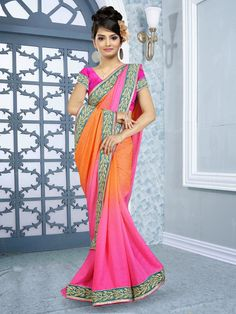 Different color combinations and attractive look enrich the demand of our sarees in the market. We are committed to supply the product as per the demand of the clients.These Designer Sarees are available in the market in various colors. Further, we ensure to provide best quality products to customers at most reasonable rates. Designer Sarees are elegant in design
