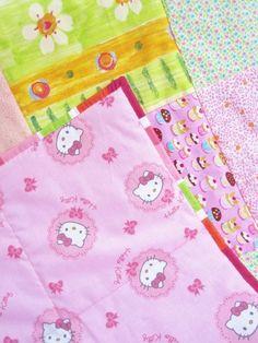 Tilkkupeitto Hello Kitty vaaleanpunainen