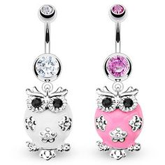 Bauchnabel Piercing mit Kristall Schmetterling