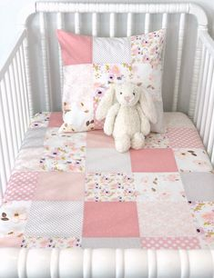 Watercolor Floral Baby Girl Blanket Crib Bedding Baby Quilt Blush Pink and Rose Gold with Lavend - Pink Stroller - Ideas of Pink Stroller - Watercolor Floral Baby Girl Blanket Crib Bedding Baby Quilt Baby Girl Bedding, Baby Girl Quilts, Baby Girl Blankets, Girls Quilts, Crib Bedding, Girl Nursery, Girl Room, Nursery Ideas, Project Nursery