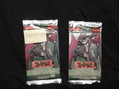 Lot of 2 Yugioh Power of the Duelist English Edition Booster Pack Game Cards, Card Games, Vintage Toys, Mint, English, Ebay, Old Fashioned Toys, English Language, Playing Card Games