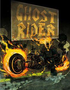 Ghost Rider by Frédéric Pham Chuong Marvel Comic Character, Comic Book Characters, Comic Book Heroes, Marvel Characters, Comic Books Art, Comic Art, Marvel Dc, Marvel Heroes, Captain Marvel