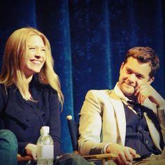 Anna Torv and Joshua Jackson #Fringe
