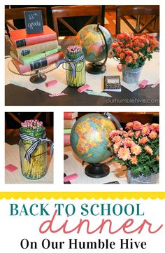 Back to School Dinner Decor Ideas.  Fun Back to School Tradition.  Our Humble Hive.
