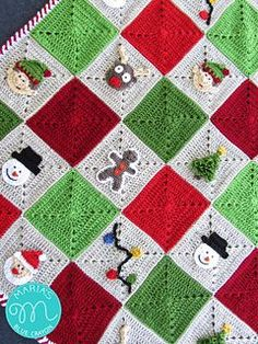 The PDF for purchase is a printable version for the complete pattern of the Christmas Granny Afghan. PDF pattern includes all patterns for appliques and granny square. Also included are instructions on how to join and create the striped border - photos are included for the joining and border. Thank you for your support!