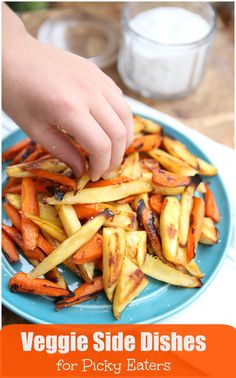 Veggie Side Dishes for Picky Eaters - these healthy side dish recipes are sure to please even the pickiest of eaters! @produceforkids